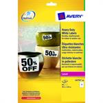 Avery L4774-20 Heavy duty labels 99,1x139 (80